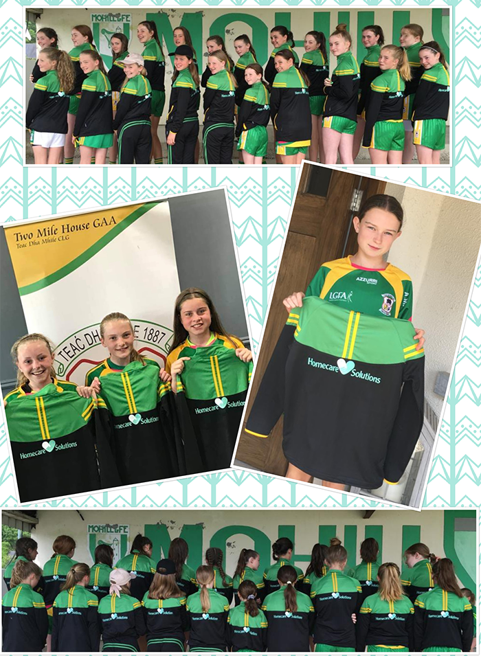 Two Mile House U14 Girls National Féile Peil Na nÓg competition